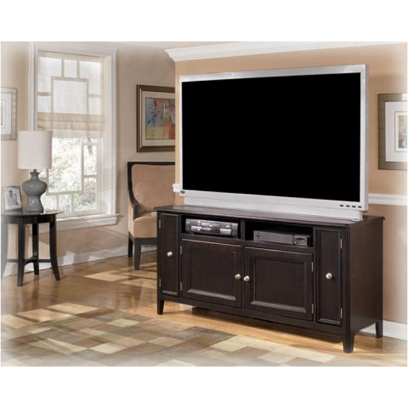 Tv Stands 38 Inches Wide Intended For Well Known W371 38 Ashley Furniture Carlyle – Almost Black Large Tv Stand (View 13 of 20)
