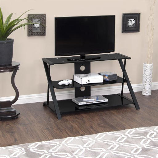 Tv Stands 38 Inches Wide With Best And Newest Shop Calico Designs Artesia 38 In. Wide High Black Tv Stand – Free (Gallery 9 of 20)