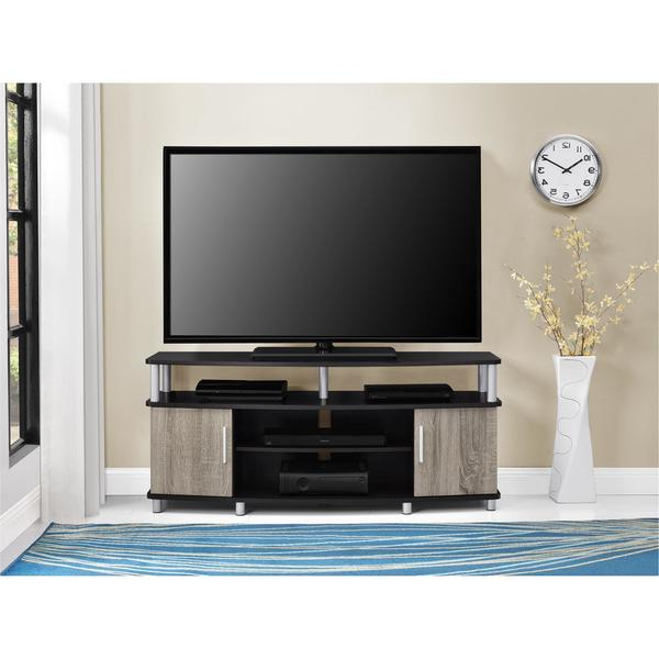 Tv Stands 38 Inches Wide With Well Liked Shop Ameriwood Home Carson 50 Inch Espresso/ Sonoma Oak Tv Stand (Gallery 7 of 20)