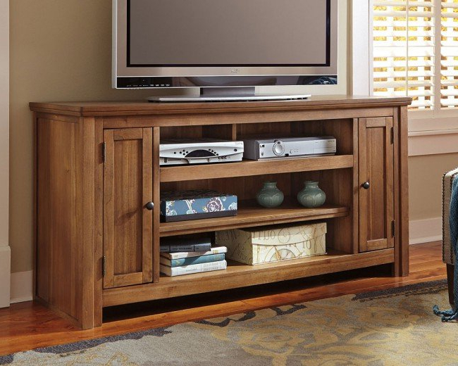 Tv Stands 38 Inches Wide Within Well Known Macibery 60 Inch Tv Stand Signature Designashley (View 17 of 20)