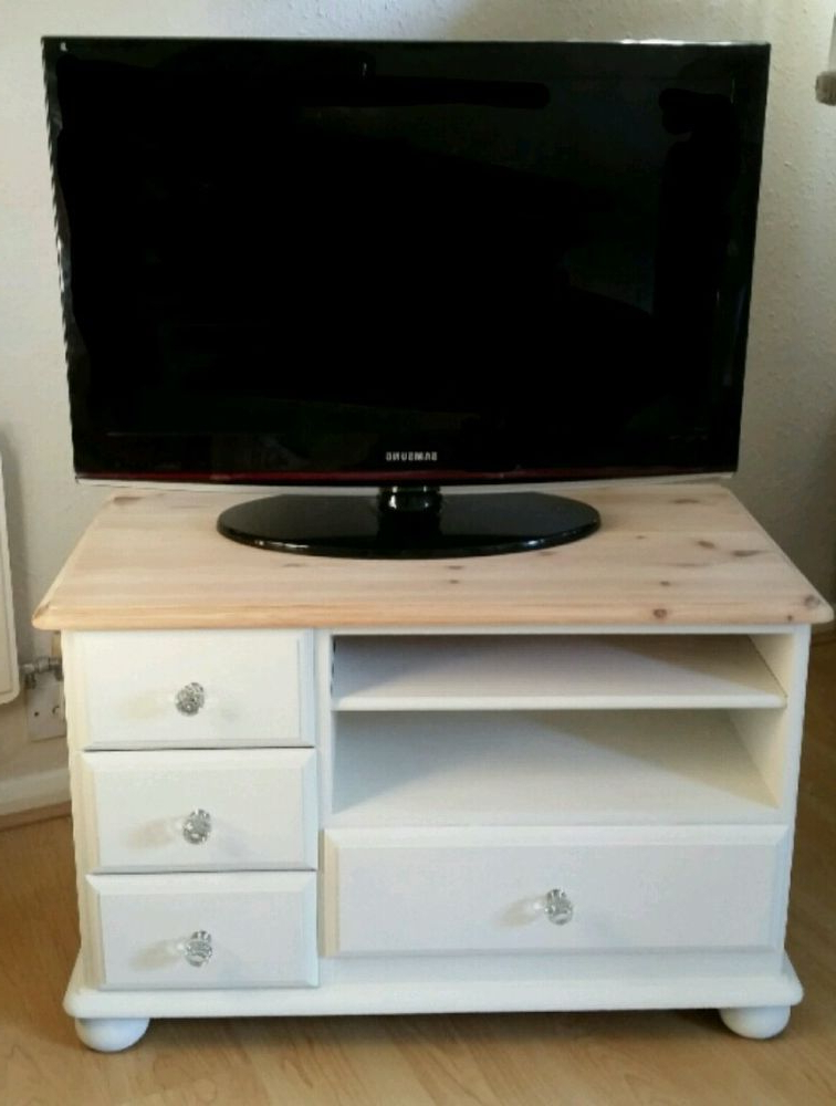 Tv Stands And Cabinets For Fashionable Shabby Chic Solid Pine Tv Unit Stand Cabinet Television Table (View 12 of 20)