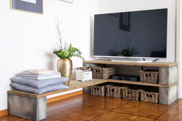 Tv Stands: Best Contemporary Tv Stand With Baskets Design Ideas Tv Regarding Favorite Tv Stands With Baskets (View 11 of 20)