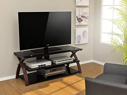 Tv Stands For 55 Inch Tv Inside Favorite Amazon: Z Line Designs Willow Tv Stand, 55 Inch, Brown: Kitchen (View 11 of 20)