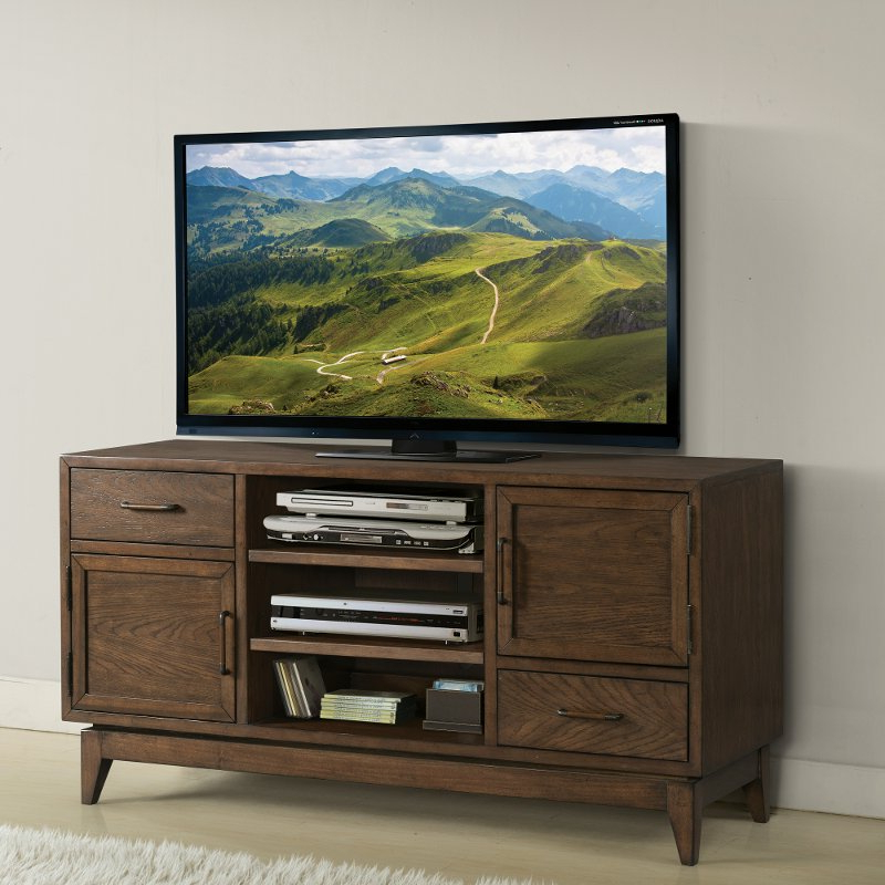 Tv Stands For 55 Inch Tv Within Well Liked Brown Transitional 55 Inch Tv Stand – Vogue (View 17 of 20)