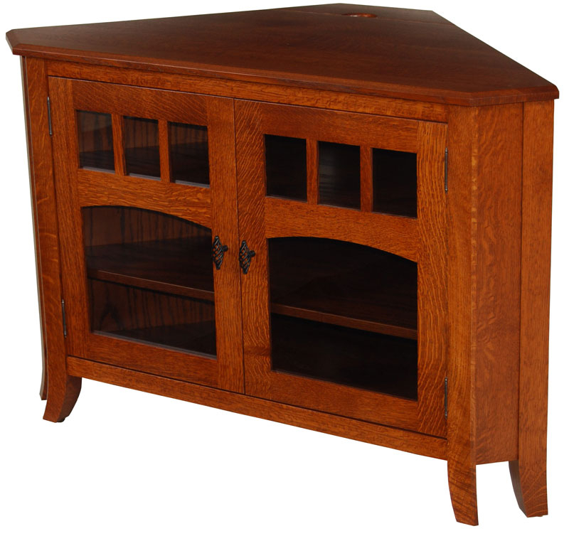 Tv Stands For Corners With Favorite Old World #32N Corner Tv Stand – Ohio Hardwood & Upholstered Furniture (View 14 of 20)