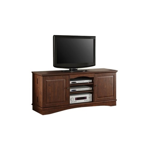 """Tv Stands For Large Tvs With Regard To Best And Newest Walker Edison Tv Stand For Most Tvs Up To 65"""" Brown Wq60C73Tb – Best Buy (View 16 of 20)"""