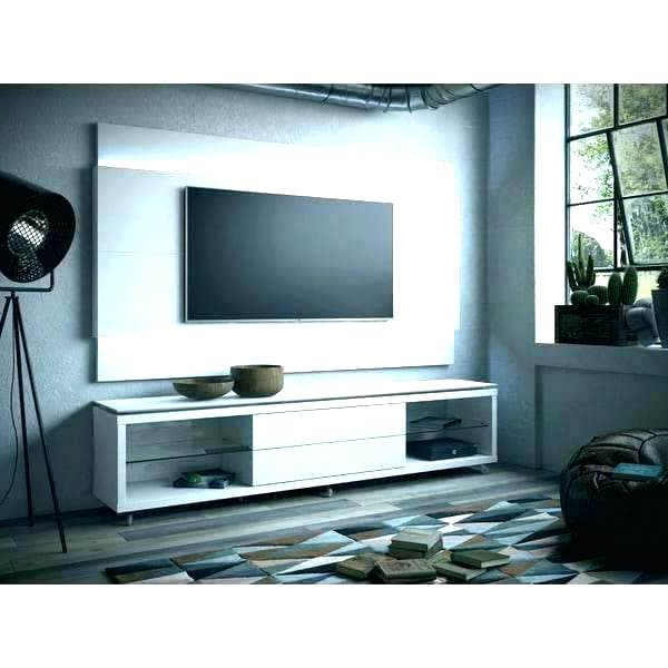 Tv Stands For The Wall Floating Stand White Wall Mount Comfort Gloss Inside Most Recently Released White Wall Mounted Tv Stands (View 15 of 20)