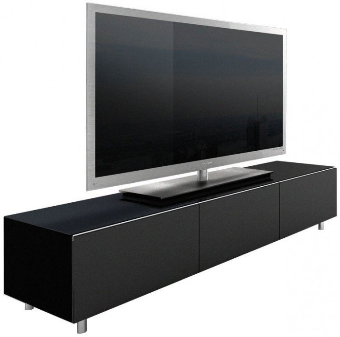 Tv Stands: Modern Tv Stand 65 Inch Frosting Glass Black Ideas 65 Inside Well Known Long Black Tv Stands (View 17 of 20)