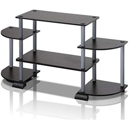 Tv Stands Rounded Corners Intended For Popular Amazon: Home Modern Shelf Turn N Tube Rounded Corner Tv Stand (Gallery 11 of 20)