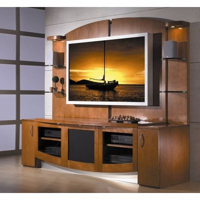 Tv Stands With Back Panel Inside Current Flat Panel / Flat Screen Tv Stand With Back Panel – Jazzy – Jsp (View 16 of 20)