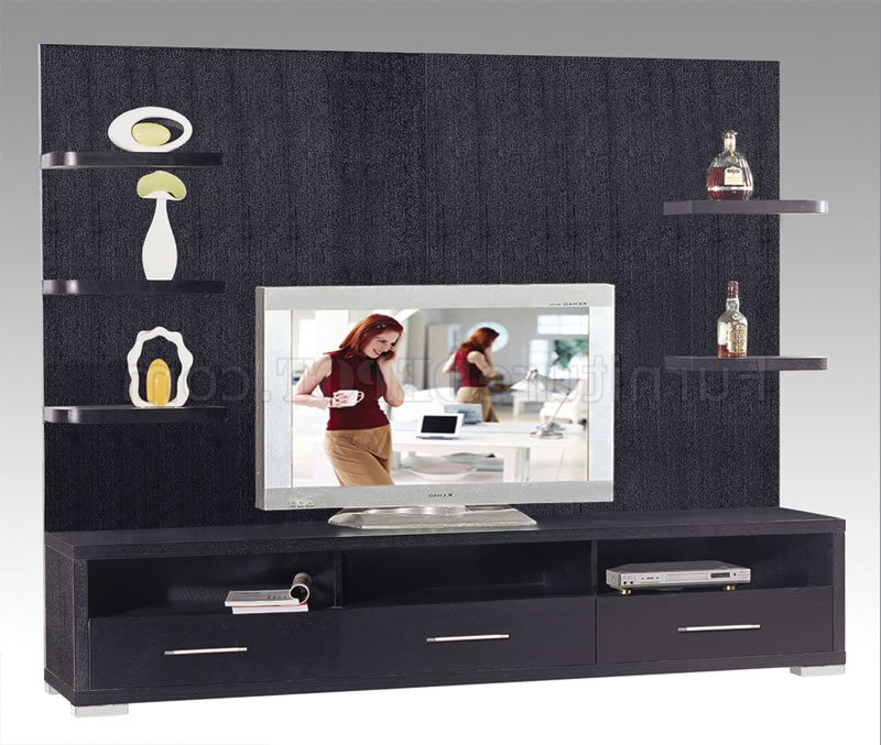 Tv Stands With Drawers And Shelves Throughout Latest Wenge Finish Contemporary Tv Stand With Drawers & Shelves (View 2 of 20)