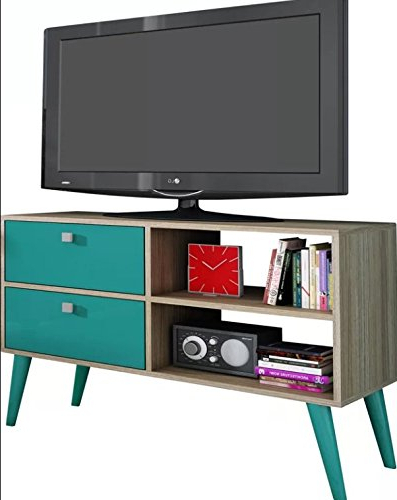 Tv Stands With Drawers And Shelves With Most Recent Amazon: Carneal  (View 17 of 20)