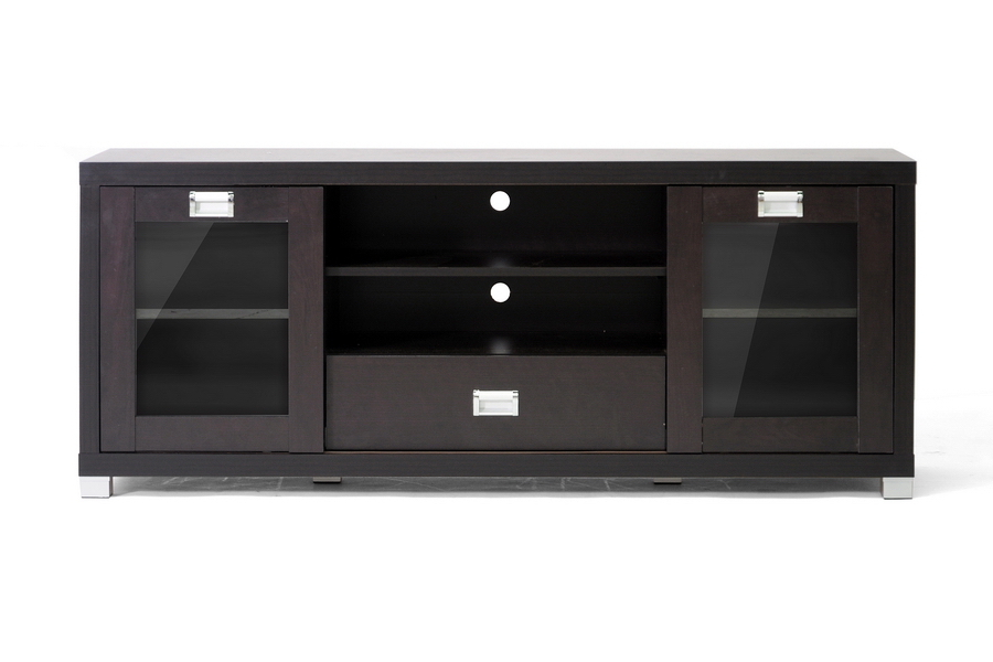 Tv Stands With Glass Doors (View 5 of 20)