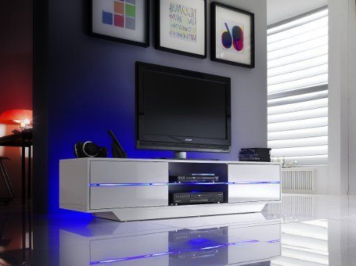 Tv Stands With Led Lights Inside Current Blue High Gloss Tv Stand With Led Lights Now In 160Cm Or 180Cm (View 15 of 20)