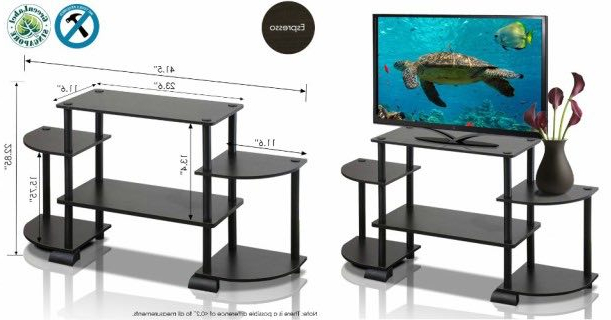 Tv Stands With Rounded Corners Inside Most Recent Furinno Rounded Corner Tv Stand Only $ (View 13 of 20)
