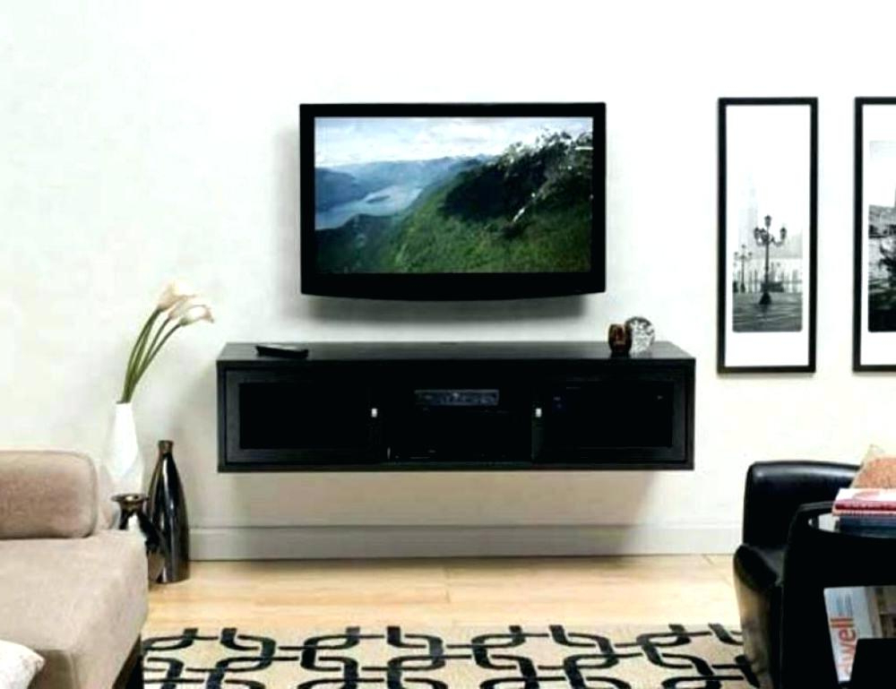 Tv Stands With Wall Mount Wall Mounted Stand Wall Mount Stand Wall With Popular Tv Stands With Mount (Gallery 17 of 20)