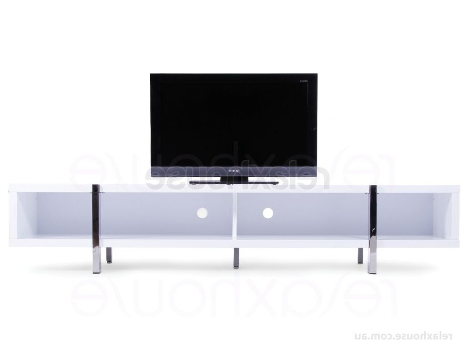 Tv Unit / Entertainment Unit In Gloss White – Lowline Tv Stand / Cabinet Throughout Popular Cheap Lowline Tv Units (Gallery 6 of 20)