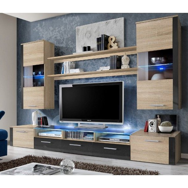 Tv Unit Storage – Living Room Modern Wall Units : High Gloss, Black In Current Tv Units With Storage (Gallery 18 of 20)