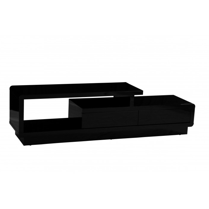 Tv Units Black Inside Most Popular Abberly Tv Unit Black High Gloss (View 14 of 20)