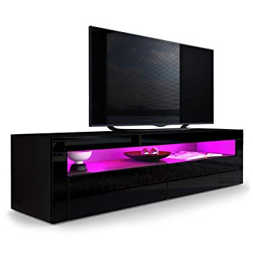 Tv Units Black Within Widely Used Amazon: Helios 157 Contemporary Tv Entertainment Stands For (View 18 of 20)