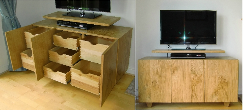 Tv Units With Storage For Famous Made To Measure Tv Stands Built Near Leeds, West Yorkshirefine Wood (View 14 of 20)
