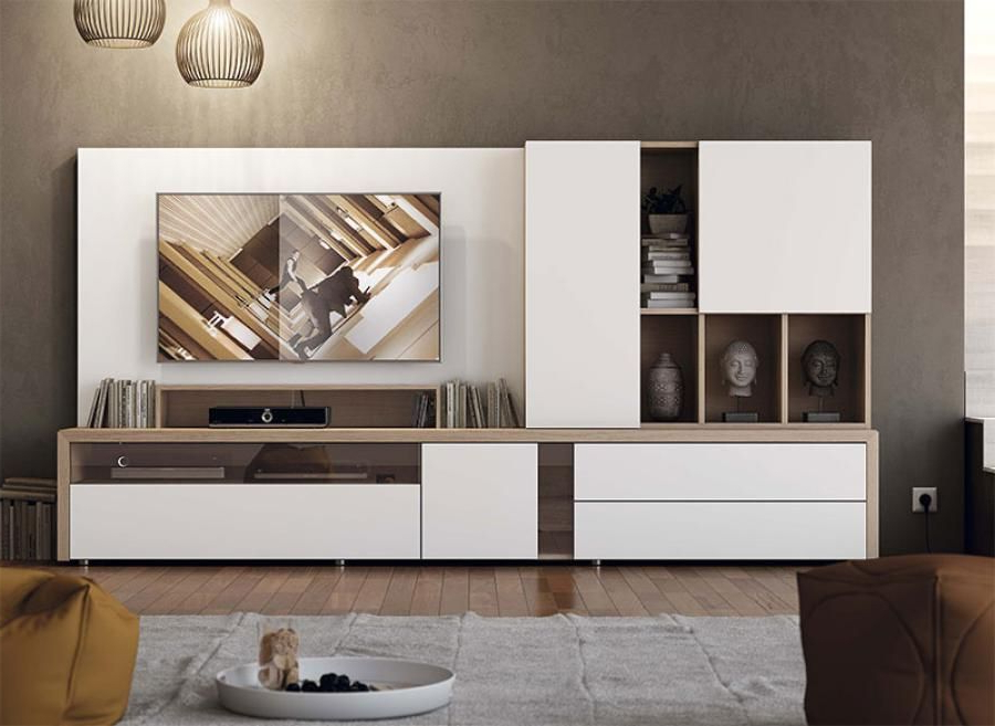Tv Units With Storage Inside Most Popular Contemporary Garcia Sabate Wall Storage System With Cabinet (Gallery 4 of 20)