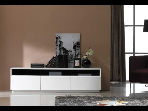 Tv023 Tv Stand, White High Glossj&m Furniture – Youtube Intended For Best And Newest White High Gloss Tv Stands (View 13 of 20)