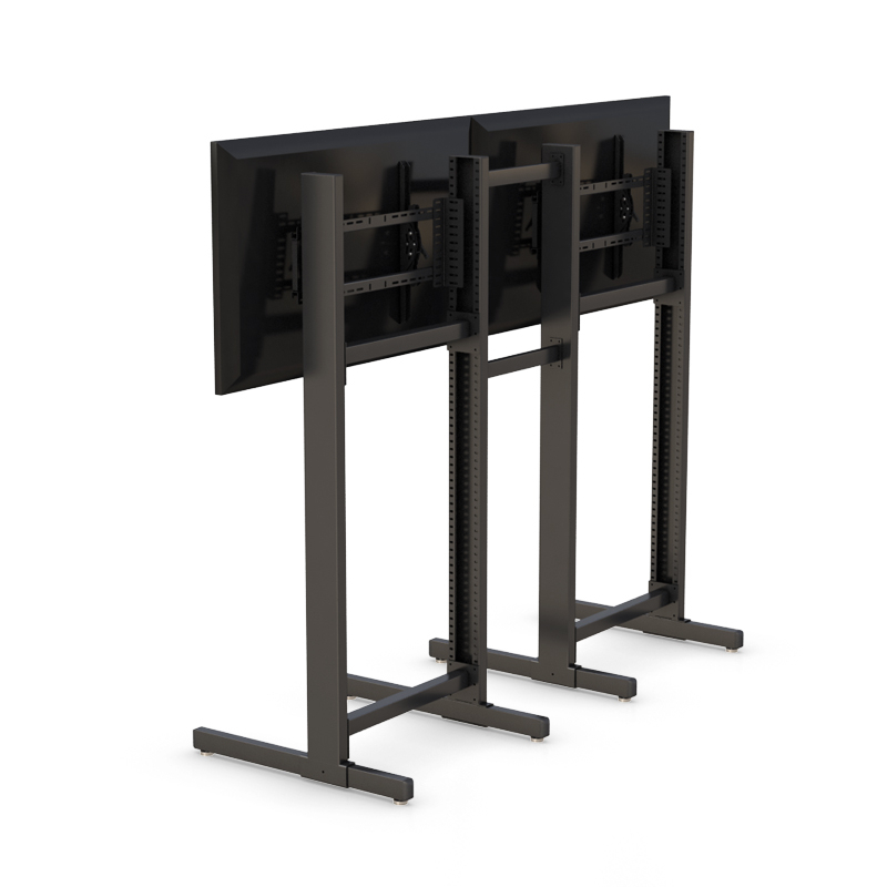 Two Tv Stand With Mount Brackets Regarding Most Recently Released Double Tv Stands (View 8 of 20)