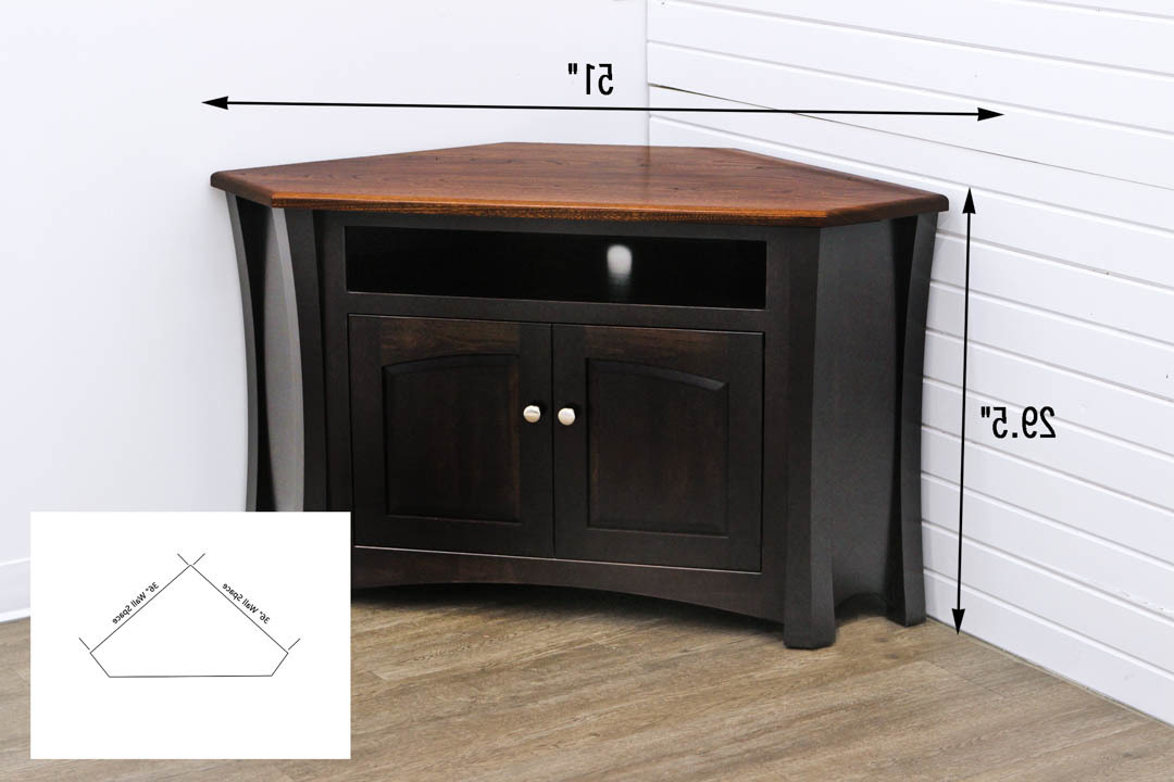 Unique Corner Tv Stands Pertaining To Widely Used Brooklyn Corner Tv Stand W/ Vcr Shelf (View 18 of 20)