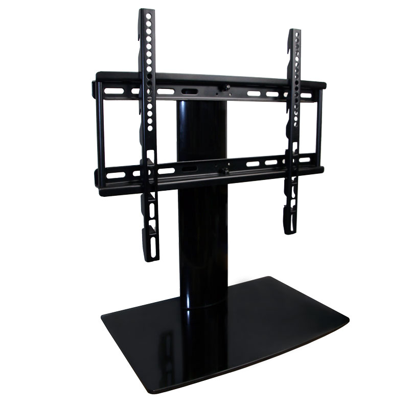 "Universal Tabletop Tv Stand With Swivel And Height Adjustment For 23 To 50""  Tvs In Widely Used Swivel Black Glass Tv Stands (Gallery 7 of 20)"