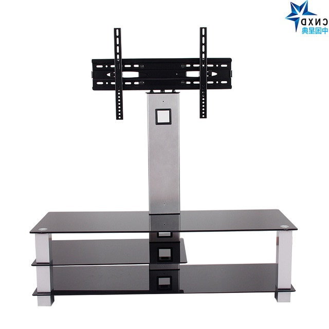 Universal Tilting Adjustable Lcd Led Flat Screen Tv Table Top Desk Within 2017 Universal Flat Screen Tv Stands (View 7 of 20)