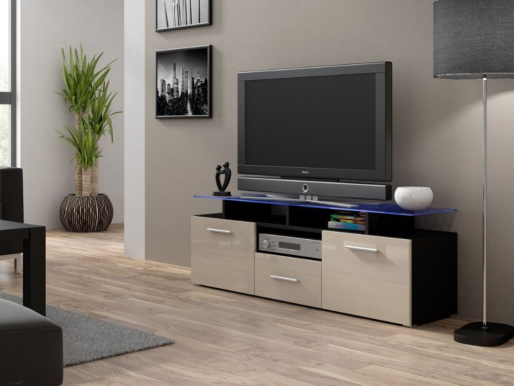 Unusual Tv Units For Best And Newest Evora Mini Tv Unit Is A Modern Tv Entertainment Center That Will Add (View 18 of 20)