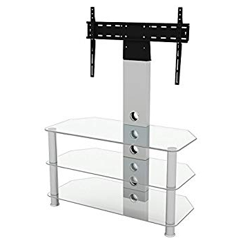 Upright Tv Stands Regarding Well Liked King Upright Cantilever Tv Stand With Bracket Clear: Amazon.co.uk (Gallery 7 of 20)