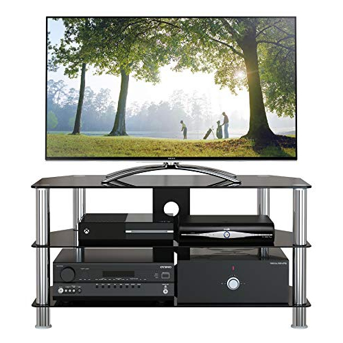 Valencia 60 Inch Tv Stands For Most Popular Tv Stand Black: Amazon.co.uk (Gallery 12 of 20)