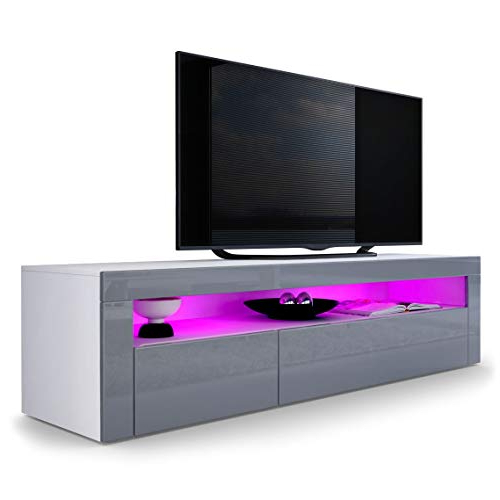 Valencia 60 Inch Tv Stands With Regard To Favorite Grey Tv Stand: Amazon.co (View 19 of 20)