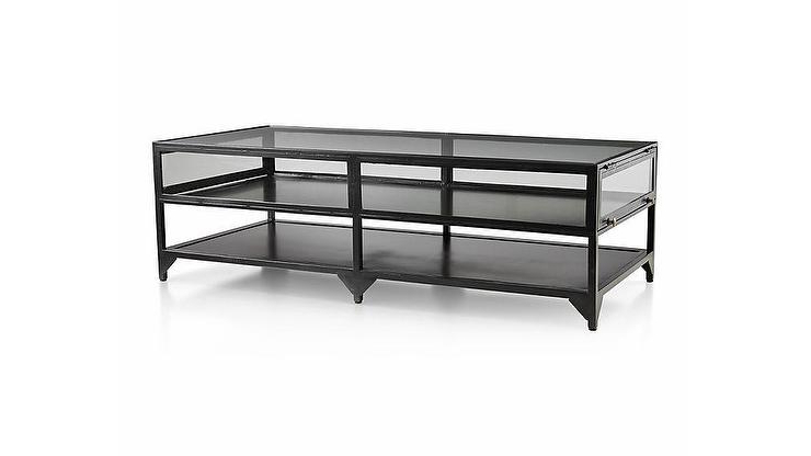 Ventana Display Console Tables For Newest Ventana Display Black Iron Glass Coffee Table (View 16 of 20)