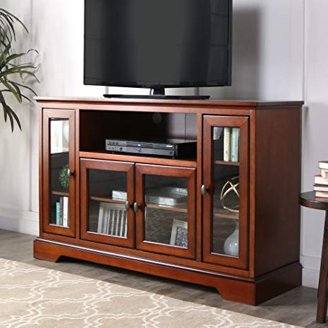"Very Tall Tv Stands Inside Well Known Amazon: We Furniture 52"" Wood Highboy Style Tall Tv Stand (Gallery 7 of 20)"
