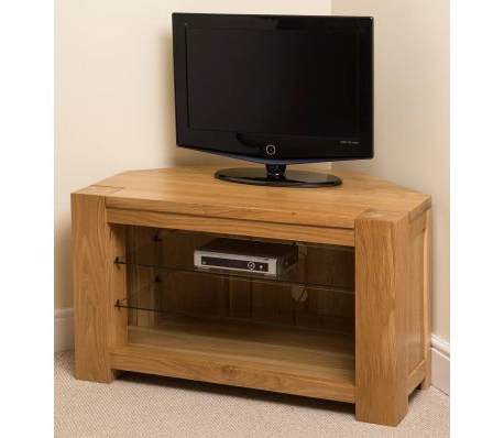 Vidaxl.co.uk Regarding Well Known Oak Corner Tv Cabinets (Gallery 17 of 20)