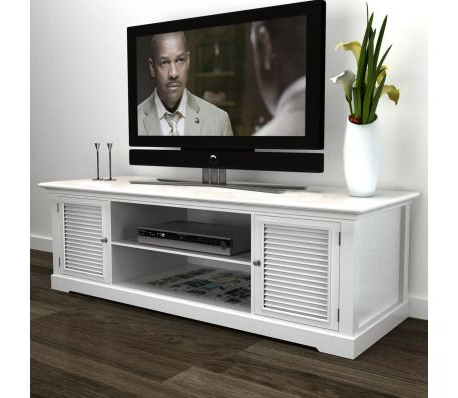 Vidaxl For White Wood Tv Stands (Gallery 3 of 20)