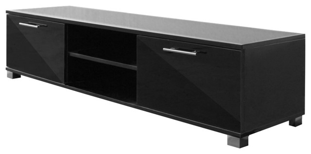 Vidaxl High Gloss Tv Cabinet – Contemporary – Tv Stands & Units – With 2017 Tv Units Black (View 20 of 20)