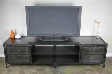 Vintage Industrial Tv Stands Intended For 2017 Modern Industrial Tv Stand – Ams (Gallery 16 of 20)
