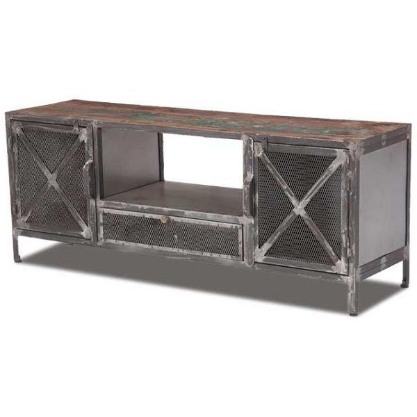 Vintage Industrial Tv Stands Intended For Famous Vintage Industrial Tv Stand Sie A5400 (Gallery 9 of 20)
