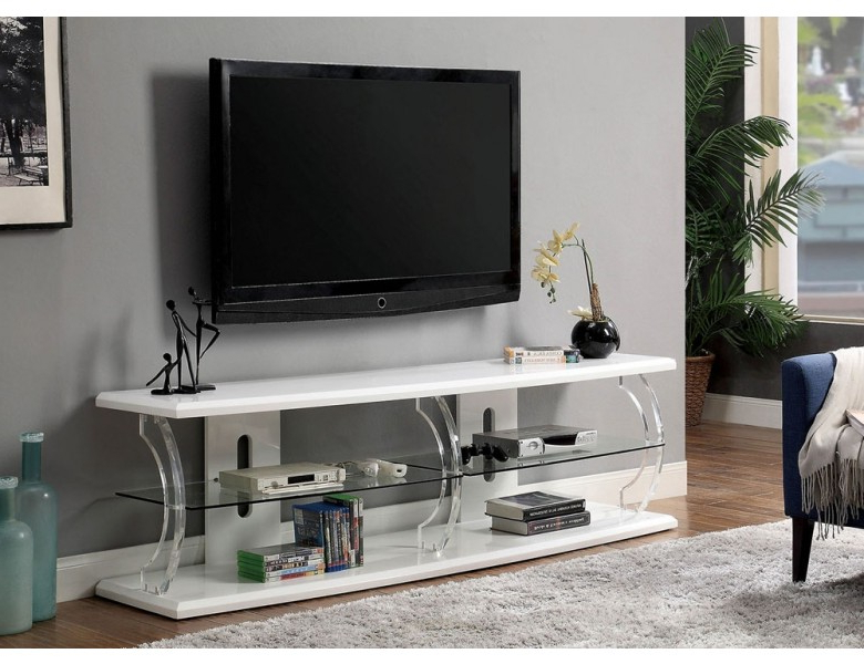 Viper Modern White Lacquer Tv Stand Inside Well Liked Modern White Tv Stands (Gallery 4 of 20)