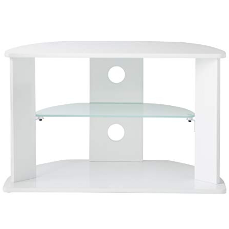 "Vonhaus Mdf/glass Tv Stand For Up To 37"" Tvs – White: Amazon.co (View 8 of 20)"