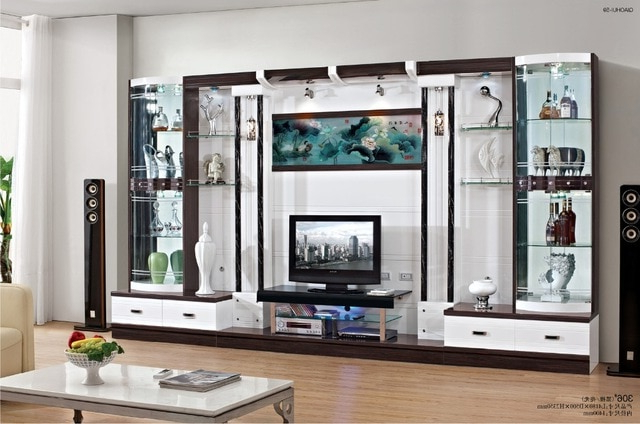 Wall Display Units And Tv Cabinets With Most Recent Tv Cabinet Cover Tv Cabinet Modern Brief Fashion Glass Cabinet (View 17 of 20)