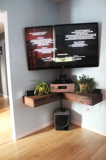 Wall Mounted Tv Stands For Flat Screens Inside Latest Tv Wall Mount Style Ideas To Combine With Your Attractive And (View 17 of 20)