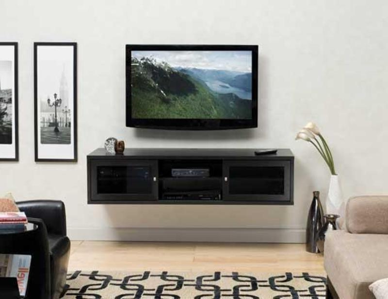 Wall Mounted Tv Stands For Flat Screens Intended For 2018 20 Best Wall Mounted Tv Stands For Flat Screens Tv Cabinet And With (View 18 of 20)
