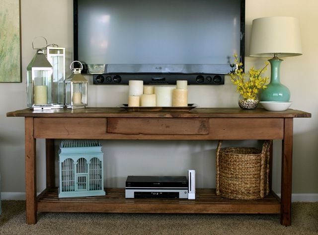 Wall Mounted Tv With Console Table Inside Console Tables Under Wall Mounted Tv (View 19 of 20)