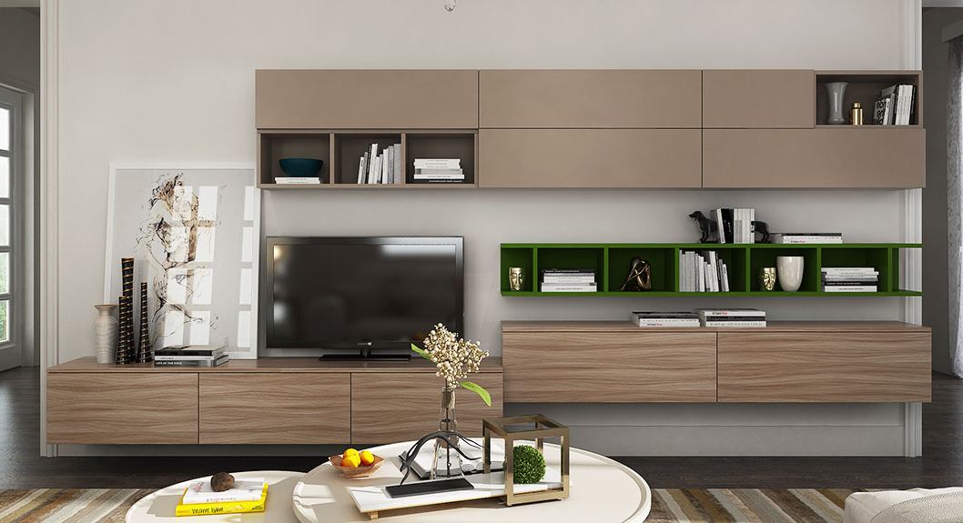 Wall Tv Stand,gray Tv Stand Design – Oppeinhome Pertaining To Latest Tv Cabinets And Wall Units (View 19 of 20)