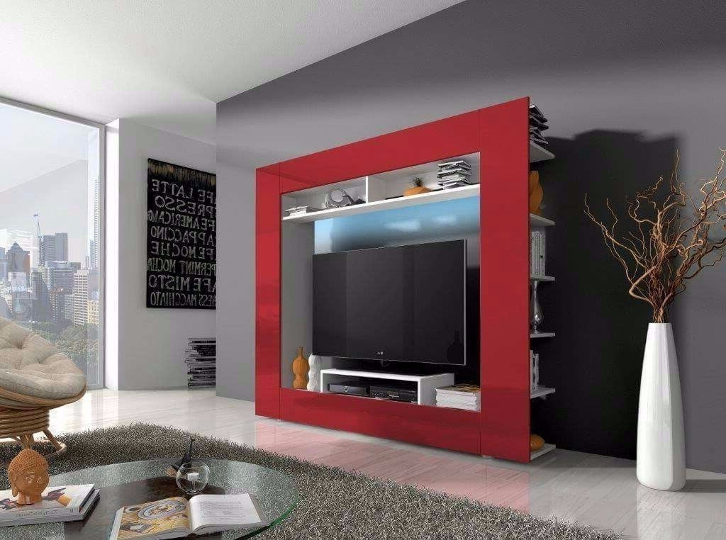 Wall Units: Amusing Furniture Wall Unit Modular Wall Units Furniture With Well Known Red Tv Units (View 20 of 20)